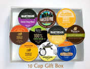 10 Cup LIGHT ROAST Coffee GIFT BOX Sampler! 10 Single Serve Cups. LIGHT Roast COFFEE! Perfect GIFT!