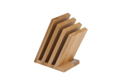 Arte Legno 42 Venezia Magnetic Knife Block, Beech Wood Natural Lacquer Finish, Brown