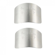 Miraclekoo Stainless Steel Safe Slice Finger Guard Protector for Cutting & Dicing,2 Pcs,white