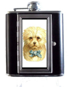 Victorian Dog White with Blue Bow, Cute Art