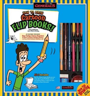 General Pencil How To Draw Cartoon Flip Books Kit