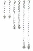 Necklace-Bracelet Extender-6 Piece Silver Tone
