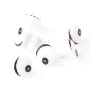 100pc Plastic Black White Cartoon Cute Animal Doll Round Eye TOY Craft DIY 16 Mm