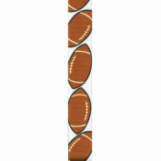 Offray Grosgrain Sports Craft Ribbon, 2.2cm x 2.7m, Football