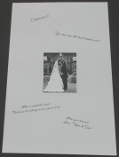 24x36 White Signature and Autograph Picture Mat for 8x10 picture. Weddings, Baby Showers, Reunions, Events