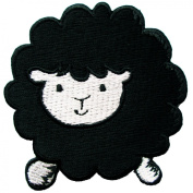 Cute Black Sheep Iron on Patches