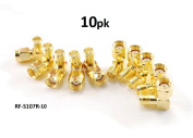 CablesOnline RP-SMA Male to RP-SMA Female Right Angle 90-Degree Gold Plated Adapter (10-Pack)