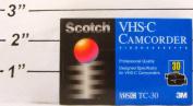 Scotch VHS-C Camcorder Video Cassette TC-30- 30 Minutes