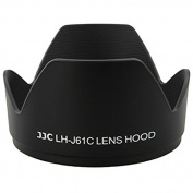 JJC LH-J61C Black Bayonet Petal Crown Lens Shade Hood for Olympus 14-42mm M.Zuiko 14-150mm Replace Olympus LH-61C