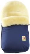 Fareskind Baby Go Cosy Sheepskin Bunting Bag, Blue, 0-12 Months