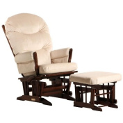 2 Post Glider - Multiposition, Recline & Ottoman Combo Coffee/Light Beige