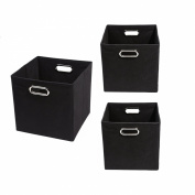 Modern Littles Smarty Pants Organisation Bundle-3 Storage Bins, Black