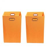 Modern Littles Organisation Bundle-2 Laundry Bins, Bold Orange