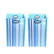 Modern Littles Organisation Bundle-2 Laundry Bins, Sky Stripes