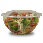 Jaya 100% Compostable Clear PLA Salad Bowl, 950ml, 300-count case