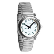 Tel-Time Talking Auto-Synchronising Watch- Chrome