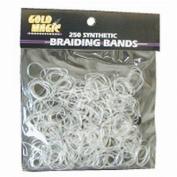 Gold Magic Clear Elastic Braiding Bands - 4 Packs