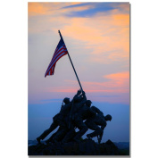 Trademark Fine Art Pinacle of Patriotism by CATeyes Canvas Wall Art, 60cm x 80cm