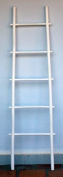 1.5m Bamboo Ladder Rack, white stain finish