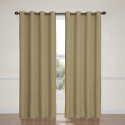Eclipse Bobbi Grommet Blackout Window Curtain Panel, 210cm , Tan