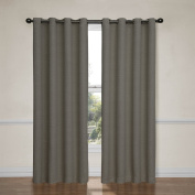 Eclipse Bobbi Grommet Blackout Window Curtain Panel, 210cm , Pewter