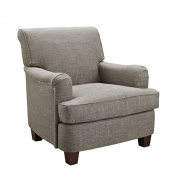 Dorel Asia Grayson Rolled Top Club Chair with Nailheads