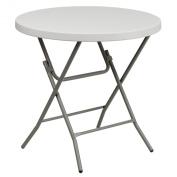 FlashFurniture RB-32R-GW-GG 80cm Round Granite White Plastic Folding Table