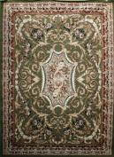 Generations Traditional Opera Persian Area Rug, 0.6m x 0.9m, Green
