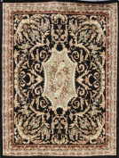 Generations pre8024black_8x11 Traditional Opera Persian Area Rug, 2.4m x 3m, Black