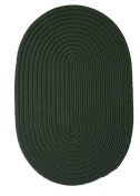 Boca Raton Polypropylene Braided Rug, 0.6m by 0.9m, Dark Green