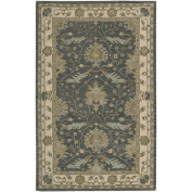 India House IH75 Rectangle Rug, Blue, 1.5m by 2.4m