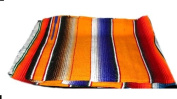 Large Authentic Mexican Saltillo Sarapes Throw Rugs Colourful Mexican Blankets Orange/pumpkin