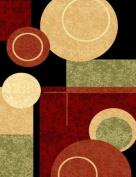 T1010 Black Cream Green 2.1m3m x 3m2 Rust Burgundy Abstract Area Rug Carpet