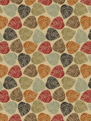 Rubber Collection Leaves Multi-Colour Printed Slip Resistant Rubber Back Latex Contemporary Modern Area Rugs and Runners (1161/1162)
