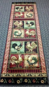 Rooster Style Area Rug Runner 0.6m X 2.1m Design # L-379