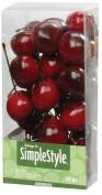 FloraCraft SimpleStyle 25-Piece Mini Decorative Fruit, Cherry