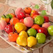 Domire 12pcs Decorative Artificial Plastic Fruits Home Party Decor Persimmon