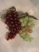 Artificial Green & Purple Grape Cluster, Set of 2 Pieces