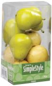 FloraCraft SimpleStyle 9-Piece Mini Decorative Fruit, Yellow/Green Pear