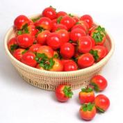 Moving Box 50pcs Artificial Lifelike Simulation Small Tomato Set Decoration Fake Fruit Home House Kitchen Decor