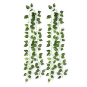 Atificial Fake Hanging Plant Leaves Garland Home Garden Wall Decoration
