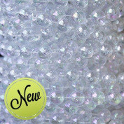 10 mm Large Pearls Faux Crystal Beads by the Roll - Clear Iridescent