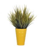 Artificial Vanilla Grass in Ceramic, Olive Grass in Yellow