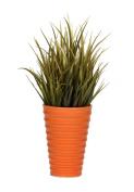 Artificial Vanilla Grass in Ceramic, Olive Grass in Orange