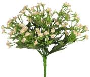 30cm Gypso Artificial Bridal Silk Flower Bush Bouquet - Peach f6