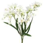 50cm ELEGANT FREESIA SILK FLOWERS SPRAY WEDDING CREAM 073