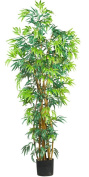 Nearly Natural 5188 Curved Bamboo Silk Tree, 1.8m, Green