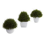 Nearly Natural 4977-S3 Mixed Cedar Topiary Collection, Green, Set of 3