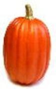 Artificial 23cm Deep Orange Pumpkin