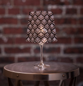 LeLe Frosted Lumizu Wine Glass Shades. Four Pack. Floating LED Candles with Batteries Inlcuded - Wedding, Party, Patio
